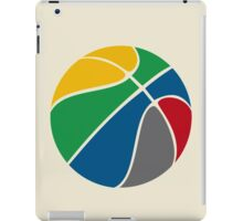Basketball with FIBA official colors  iPad Case/Skin