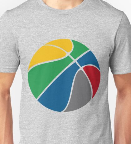 Basketball with FIBA official colors  Unisex T-Shirt