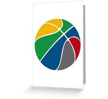 Basketball with FIBA official colors  Greeting Card