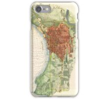 Vintage Map of Burlington Vermont (1872)  iPhone Case/Skin