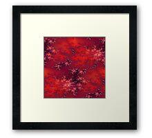 Seamless Fractal Red Framed Print