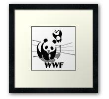 WWF Panda Wrestling (Parody) Framed Print