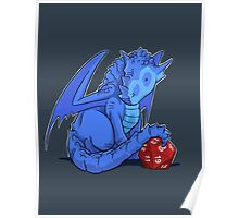 D20 Blue Dragon Poster