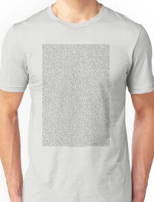 THE ENTIRE BEE MOVIE SCRIPT Unisex T-Shirt