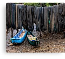 Drying Nets Canvas Print