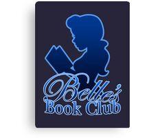 Belle's Book Club Canvas Print