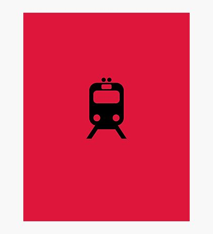 CTA Chicago Red Line Inspired Minimalist Print Photographic Print