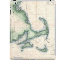 Vintage Map of the Massachusetts Coastline iPad Case/Skin