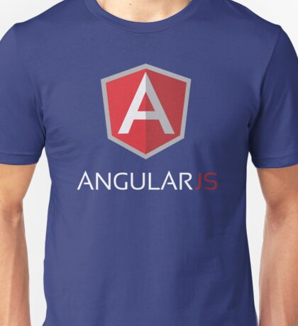 Angular JS (On Blue) Unisex T-Shirt