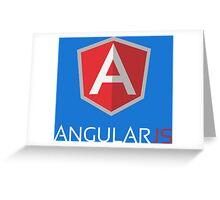 Angular JS (On Blue) Greeting Card