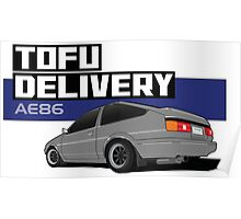 Initial D Tofu Delivery - AE86 Poster