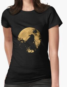 Raven Moon Womens Fitted T-Shirt
