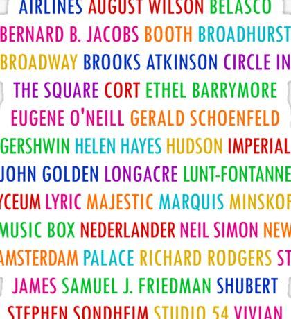 Broadway Theatres (2) Sticker