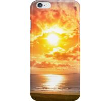 tourists walking on Ballybunion beach iPhone Case/Skin