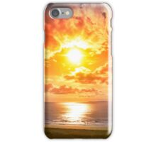 tourists walking on Ballybunion beach iPhone Case/Skin