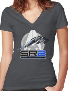 Mass Effect - Normandy SR2 Women's Fitted V-Neck T-Shirt