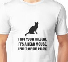 Cat Dead Mouse Pillow Unisex T-Shirt