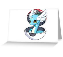 Cute Dratini in Pokèball Greeting Card