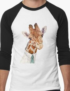 Male Giraffe Men's Baseball ¾ T-Shirt