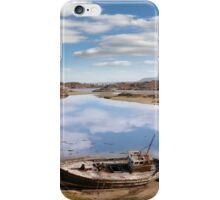 two beached fishing boats on Donegal beach iPhone Case/Skin