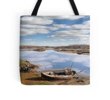 two beached fishing boats on Donegal beach Tote Bag