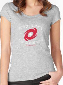 Official Survivor Hurricane Matthew Women's Fitted Scoop T-Shirt