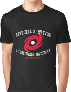 Official Survivor Hurricane Matthew Graphic T-Shirt