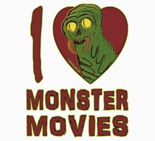 I Love Monster Movies Kids Tee
