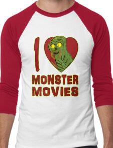 I Love Monster Movies Men's Baseball ¾ T-Shirt