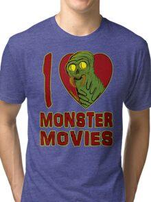 I Love Monster Movies Tri-blend T-Shirt