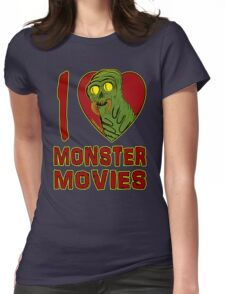 I Love Monster Movies Womens Fitted T-Shirt
