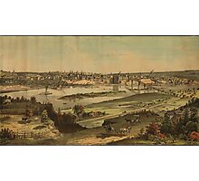Vintage Pictorial Map of St. Paul Minnesota (1874)  Photographic Print