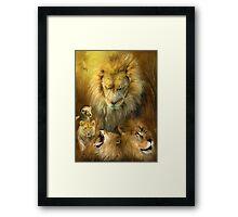 Seasons Of The Lion Framed Print