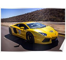 Lamborghini Aventador Rolling Shot on the Cruise 4 Kids rally! Poster