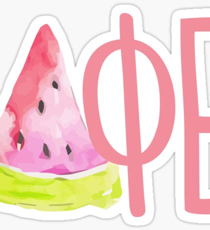 DPHIE watermelon pink Sticker