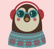 Hipster Xmas Penguin Kids Clothes
