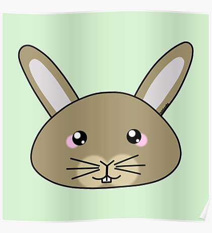 Cute bunny - Farm animals collection Poster