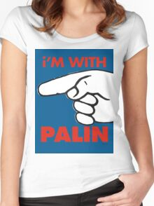 i'M WITH PALIN Women's Fitted Scoop T-Shirt