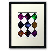 Diamond Space Window Framed Print