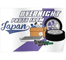 Overnight Parts From Japan Poster