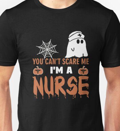 Halloween T-shirt You Can't Scare Me I'm a NURSE Unisex T-Shirt