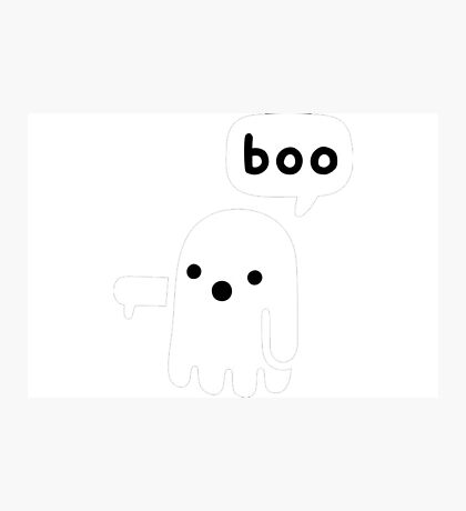 A ghost saying boo Photographic Print