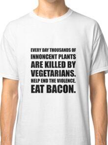 Vegetarians Eat Bacon Classic T-Shirt