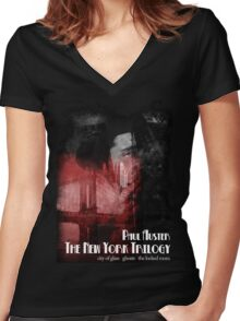 Paul Auster New York Trilogy T-Shirt Women's Fitted V-Neck T-Shirt