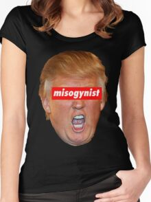 trump misogynist Women's Fitted Scoop T-Shirt