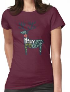 Christmas lettering Womens Fitted T-Shirt