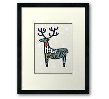 Christmas lettering Framed Print