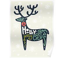Christmas lettering Poster