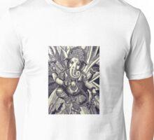 Ganesha Woodcut Unisex T-Shirt