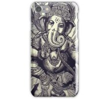 Ganesha Woodcut iPhone Case/Skin
